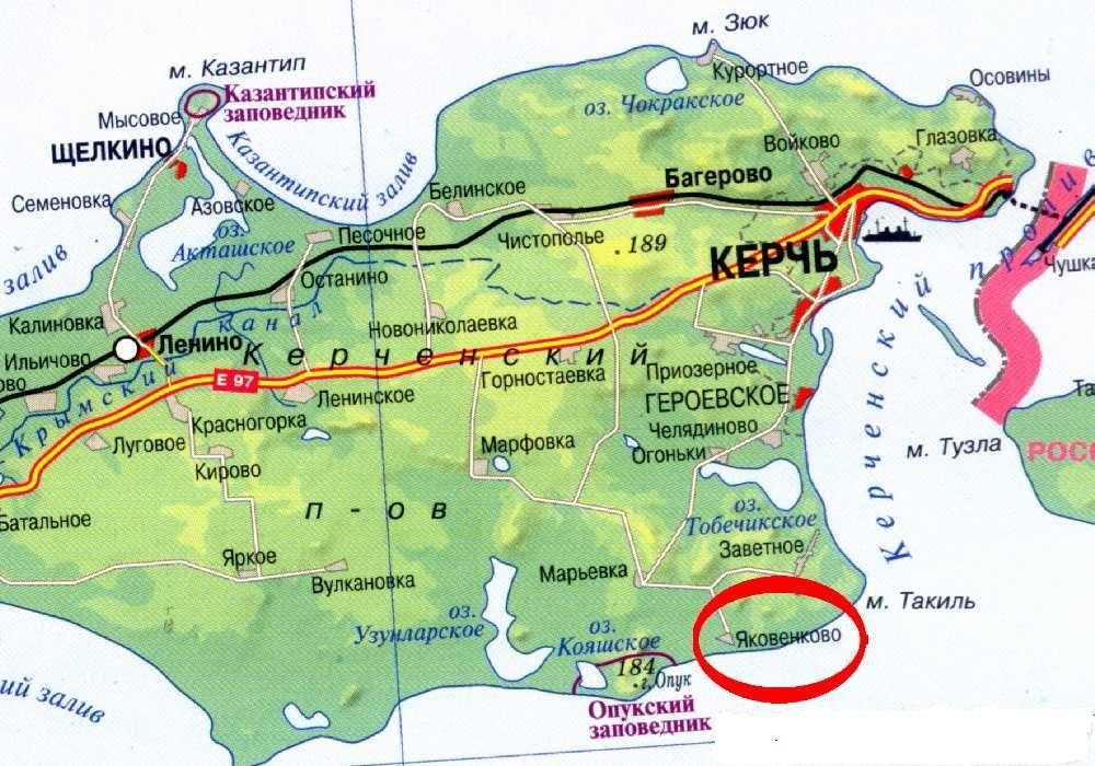 Месторасположение полевой археологической базы фонда Археология на Керченском полуострове